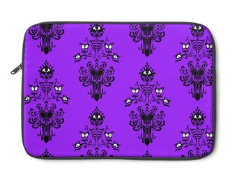 Haunted MansionStyle Wallpaper Laptop Case