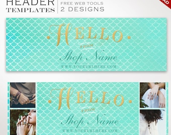 Twitter Header Template - DIY Mermaid Twitter Cover Photo Template - Twitter Profile Image Twitter Header Photography SMTW AAB
