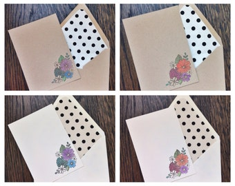 Watercolor Floral Note (set of 10)