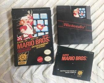 Super Mario Bros Nintendo jeu NES avec notice et boite