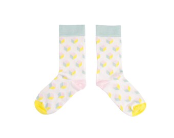 Pastel Socks with a 3D Cube print