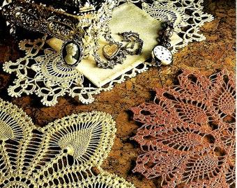 MÄNTEL 267 Deckchen Original Vintage Crochet Pattern