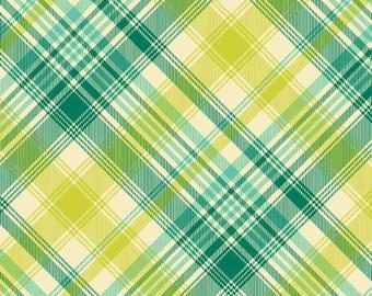 90352 Joel Dewberry Notting Hill Tartan plaid in aqua Home Dec  fabric - 1/2 yard