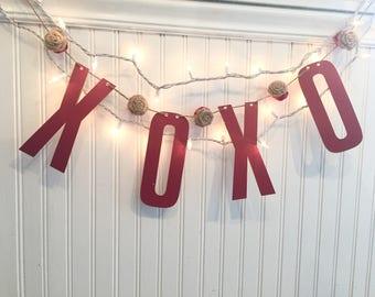 Reversible XOXO Valentine's Day Banner