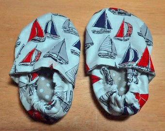 Sailboat crib shoes