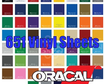 "12"" X 12"" Oracal 651 Glossy Vinyl She"