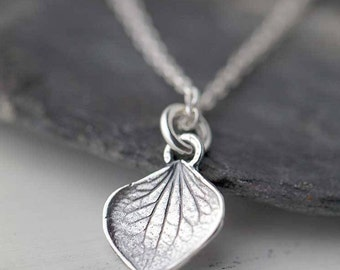 Tiny Petal Necklace | Sterling Silver Necklaces for Women | Gardening Gift | Gift for Women | Gift for Her | Handmade Jewelry by Burnish
