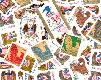 40 Eagle Themed Postage Stamps