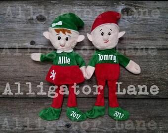 Christmas Elf Christmas Elves Girl Boy Stocking Stuffer Custom Elves Childrens Gifts Stockings Christmas Gift Tree Green Red Elves
