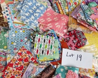 DESTASH LOT 19 Vintage Quilting Cotton Lg Flat Rate Envelope Stuffed with Rare, HTF Charms, 1930's, Animals, cute!