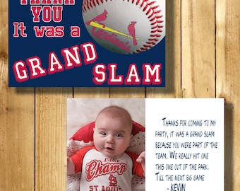 St Louis Cardinals 4x6 Thank You Note Cards