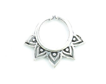 Faux Septum Ring, Fake Septum Ring, Faux Nose Ring, Non Pierced Septum, Modern, Geometric, Body Jewelry, Triangle Septum Ring