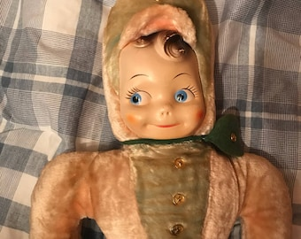 Vintage Plush Doll - 1950s - LARGE
