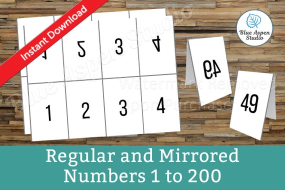 facebook live numbers cards reverse forward mirrored 1 to 200