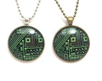 Computer Science Necklace - Available with Silver & Brass colouring