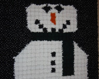 Snowman Rag Quilt Digital Pattern by Sew Practical, Mom and Pop Craft