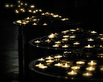 Church Lights - Paris, Photography, Wall Art, Candlelight