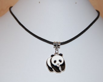 Panda Necklace,Panda Choker Necklace,Panda Bear Necklace,Panda Pendant Necklace,Panda Jewelry,Wildlife Animal Necklace,Man,Woman,Gift