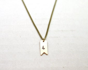 Long initial necklace - personalized tag - layering minimal jewelry