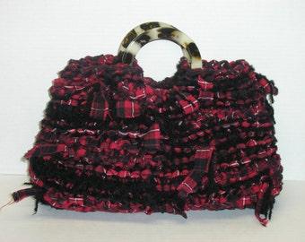 Purse Knitting Pattern Knitting with Fabric and Yarn Pattern for Knitting with Fabric Knitted Gifts Purse Knitting Patterns Handbag via pdf