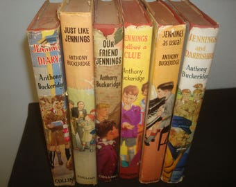 Set of 6 Jennings Reprints with Dust Jackets