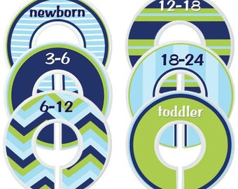 Custom Baby Closet Dividers Baby Clothes Organizers Navy Nursery Nautical Nursery Baby Shower Gift Nursery Closet Dividers Baby Boy