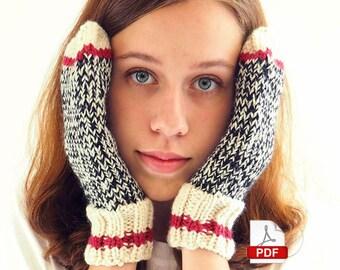 Sock Monkey Mittens - knitting pattern