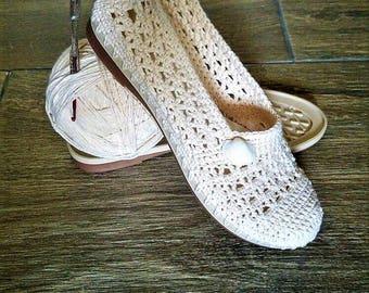 """Uncinetto donne """"s estate scarpe pantofole all'uncinetto fatto a mano scarpe Slip donna mocassini estate scarpa outdoor Crochet scarpe gomma sole pantofole"""