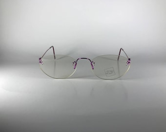 T3 T3-2001 col 306 Frame Italy CE Purple Metal Unisex Vintage Frames NOS Deadstock - Free Shipping