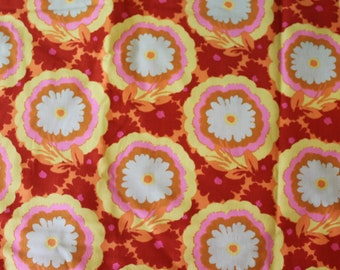 Amy Butler Fabric - Soul Blossoms Buttercups AB62 for Rowan / Westminster - 1 1/4 Yard Piece