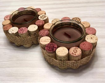 Bouchon de vin bougie
