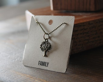 Family Ball Chain Charm Necklace