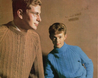 Knitting Pattern Childrens Sweaters Pattern Booklet Vintage