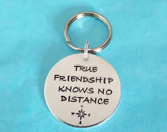 Friendship keyring great for friends who are maybe far away but always in our heart