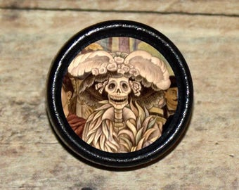 Skeleton DAY of the DEAD Pendant or Brooch or Ring or Earrings or Tie Tack or Cuff Links