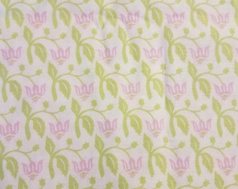 Joel Dewberry Cotton Fabric by the Yard - Aviary Rose (Green Colorway) (discontinued)