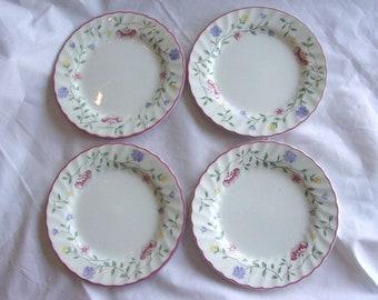 Johnson Brothers Summer Chintz, 4 bread butter plates, earthenware, Staffordshre England, dinnerware