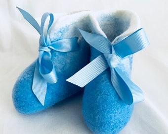 Felted Love Boots   Dark Blue