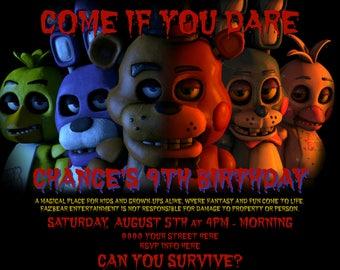 Five Nights At Freddy's Invitation (Digital File)