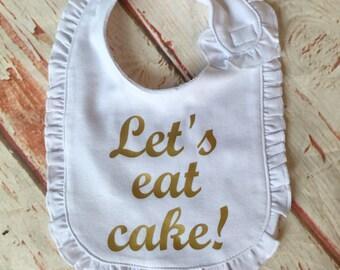 First Birthday Bib - Girls First Birthday Bib - First Birthday Party - First Birthday Outfit - First Birthday Cake Smash- Birthday Outfit