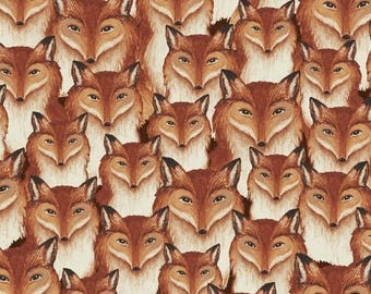 Windham - Wild Woods - Fox Heads - Multi - Fabric by the Yard 41124-X