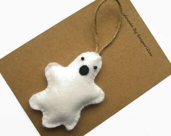 Halloween Decorations, Cute Ghost, Rustic Halloween, Felt Ornaments, Halloween Ghost Decor