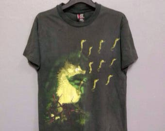 Rare!! Vintage NIRVANA T Shirt Large Size Made in USA