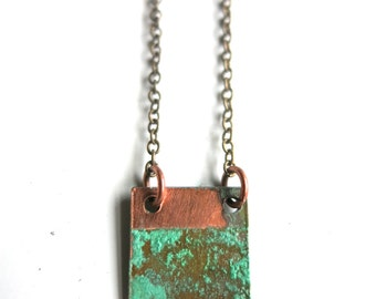 Patina Square Necklace