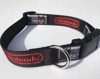 "Nintendo 1"" Large Dog Collar"