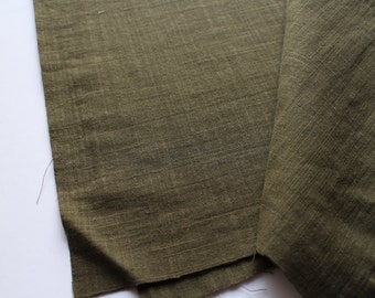cotton double gauze fabric. soft japanese pure cotton fabric. 102cm (40in) wide. sold by 50cm (19in) long / half yard. moss green