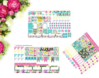 MONTHLY Personal OR Half Letter SMC August Sticker Kit