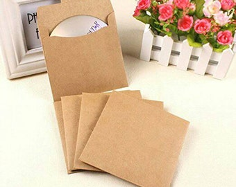 100 Kraft paper bags for CDs and DVDs
