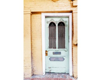 New Orleans Photography NOLa Art French Quarter Photography Architecture Photography Door Print Door Photograph Pastel Art Mint Green Door