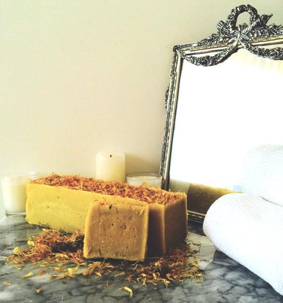 Organic Carrot Calendula Soap